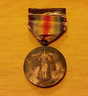 The Great War for Civilization Medal WWI Victory Service Military Antique