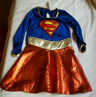 Girls' SuperGirl Hero Caped Dress Halloween Costume Pre-owned Size s10 • No cape