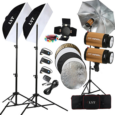 Profession LYT 300SDI 900W Flash Lighting +Trigger Kit Photography Strobe Light