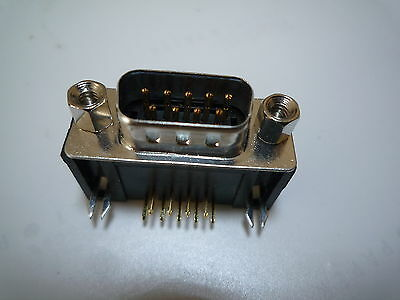 9 - PIN D-Type Plug Male Right Angled PCB Mounted Connector