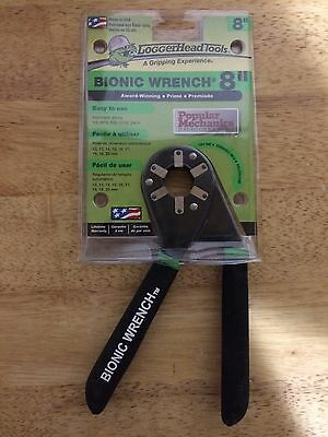 LoggerHead Tools BW8-01R-01 Bionic Wrench 8 Inch Adjustable Wrench NEW FREE SHIP