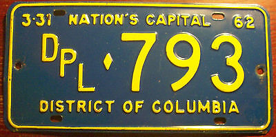 1962 Washington D.c. District Of Columbia  Diplomatic Diplomat Cd License Plate