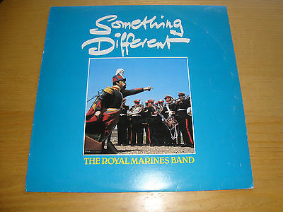 "The Royal Marines Band ""something Different"" Lp*blue Vinyl + Poster 1980 /mint"