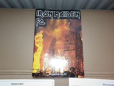 Iron Maiden fan club magazine No 61 with merchandise sheets.