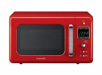 Daewoo KOR-6LBR Forno a Microonde Digitale, Rosso, 20 lt