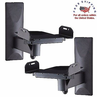 SPEAKER WALL MOUNT Brackets Side Clamping Tilt Swivel for Large Speakers 2 PCS