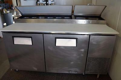 "True 67"" Pizza Prep Table Model TPP-67 Holds nine 1/3 size pans"