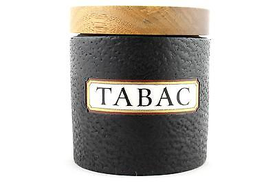 A Dunhill tobacco / tabac jar Vintage Leather covered ceramic Circa 1960
