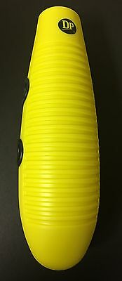 """Salsa Guiro, Plástico 13"""" Long With 2 Playing Sticks & Two Guiros In One. Yellow"""