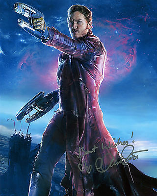 Chris Pratt - Peter Quill - Guardians of the Galaxy - Signed Autograph REPRINT