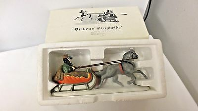 Dept 56 Dickens' Winter Sleighride porcelain Hand Painted-Boxed