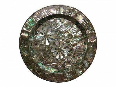 Castillo Sterling And Abalone Pearl Daisy Plate (BRG 9718)