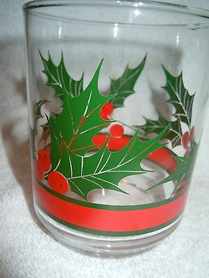 Arby's On The Rocks Holly Berry Glass