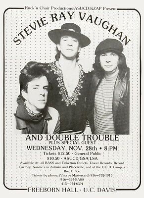 Stevie Ray Vaughan POSTER  - VERY LARGE Live Blues Guitar Master Strat vaughn