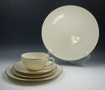 Lenox China OLYMPIA PLATINUM 5 Piece Place Setting(s) EXCELLENT