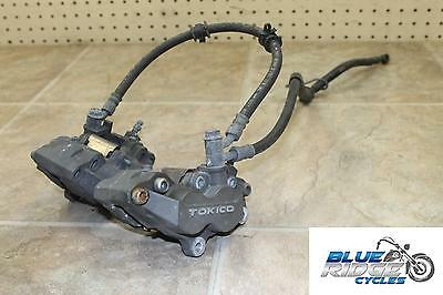 00-03 Suzuki Gsxr 750 Oem Front Brake Calipers With Hoses Pads Lines Oem Stock