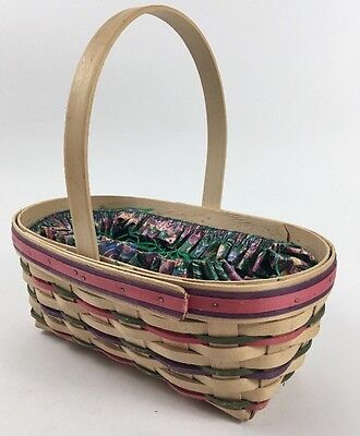 Longaberger 5202 Easter Basket Large 1997 Fabric Protector Lunch