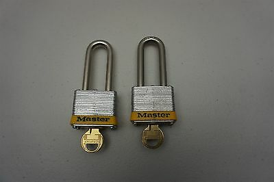 "Master Lock No. 3LHYLW Yellow Laminated Steel 2"" Shackle (Lot of 2)"