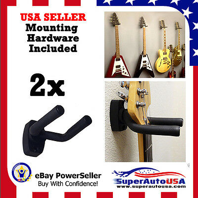 2-PACK Guitar Hanger Hook Holder Wall Mount Display Acoustic Electric US