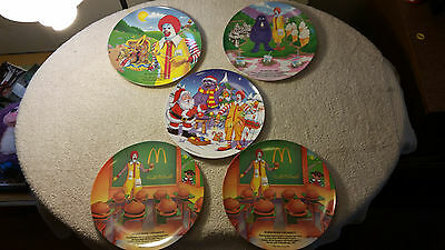 Lot of 5 McDonald's Collectible Plates - 1989 - 2000