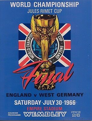 ENGLAND v WEST GERMANY WORLD CUP FINAL 1966