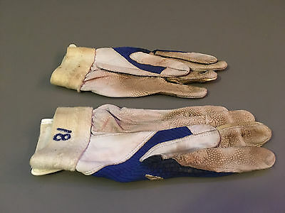 Geovany Soto Chicago Cubs #18 Game Used Nike Royal/White Batting Gloves