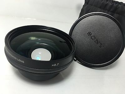 NICE! Sony VCL-DH0758 0.7x Wide Angle Lens w/Caps and Case
