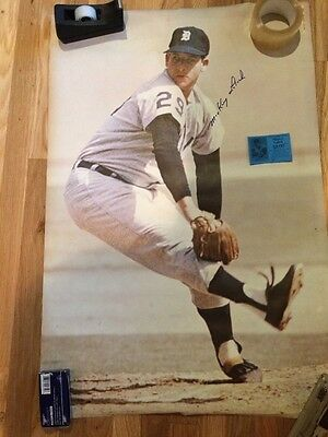 Mickey Lolich autographed poster, 1968 Detroit Tigers