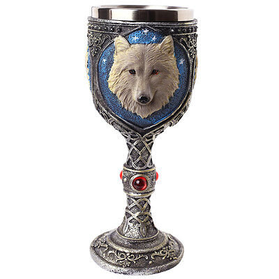 Wolf Goblet - Fantasy Collectable Decorative Ornament chalice 19cm