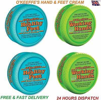 O'Keeffe's Working Hands Hand Foot Cream Cracked Split Skin Non-Greasy O Keefes