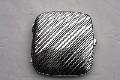 "Vintage German Silver Cigarette Case  ""LQQK"""