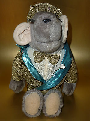 Roland Rat Soft Toy in his Very Rare Gold Suite and Shiny Blue Hat and Trousers