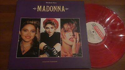 Madonna The Early Years Red Color Vinyl Lp Gatefold Sleeve