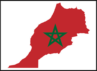 Novelty Morocco Moroccan Flag Country National Photo Fridge Magnet.