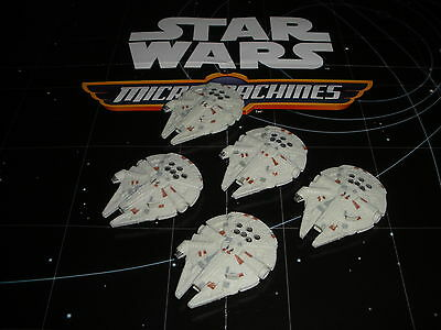 Micro Machines Star Wars The Force Awakens Lot X5 Han Solo's Millennium Falcon