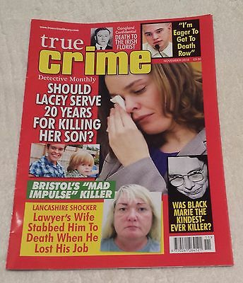 TRUE CRIME DETECTIVE MONTHLY MAGAZINE November 2016 Murder Police Criminal Case
