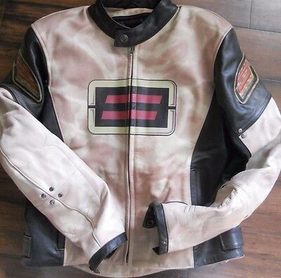 Motorcycle Jacket Shift ST black beige marbled Advanced Design Medium
