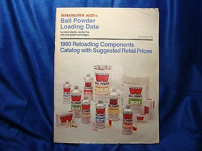 RARE 1980 Winchester Western Loading Data Catalog Book Manual