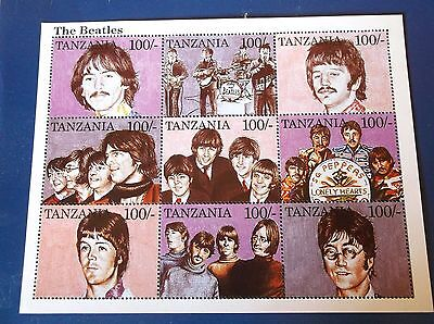 The Beatles 1994 Issue Postage Stamp Set - Mint