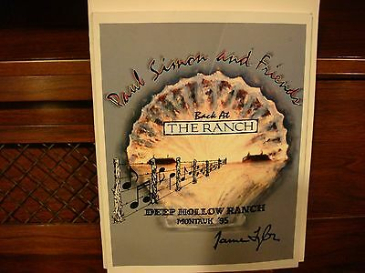 Paul Simon And Friends Back At The Ranch Program Montauk 1995 Very Good