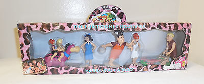 1993 COLLECTIBLE Flintstones MOVIE Mini PVC Figures Spencer Gifts Cake Toppers