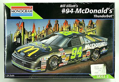 #94 Bill Elliott McDonald Thunderbat NASCAR Monogram Model Car Kit 1:24 1995