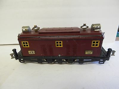 American Flyer  # 4019 Maroon Box Cab Engine With Yellow Windows Runs
