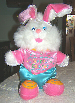 Musical Easter Sparkle Faced Bunny Press Paw & Taps His Foot by Dan Dee