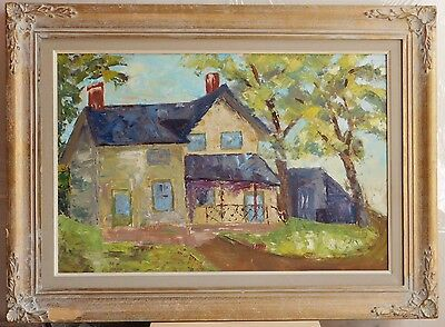 """Sweet Home, Hamilton, hand-painted oil on board, 16""""x24"""", with frame 22""""x30"""""""