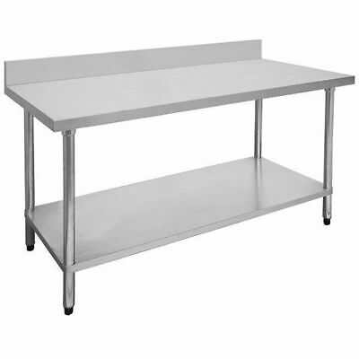 Prep Bench with Undershelf & Splashback, Stainless Steel, 1800x600x900mm, Kitche