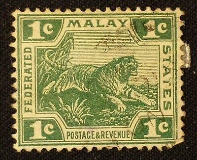 1908 Federated Malay States Stamp 1c  #0805