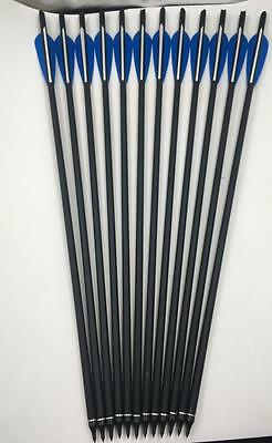 """3/6/12/24pcs 20"""" Archery Carbon Shaft Crossbow Bolts Arrows Tips for Hunting"""