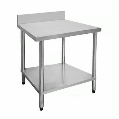 Prep Bench with Undershelf & Splashback, Stainless Steel, 600x700x900mm, Kitchen