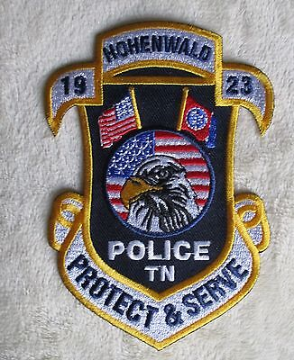 "Hohenwald Police Dept Patch - Tennessee - 3 1/2"" x 4 7/8"""